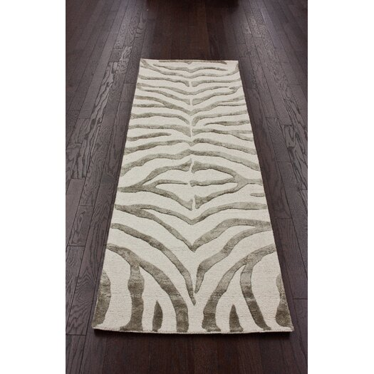 nuLOOM Earth Grey/Beige Radiant Zebra Area Rug