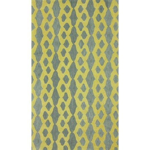 nuLOOM Brilliance Grey/Yellow Hannah Plush Area Rug