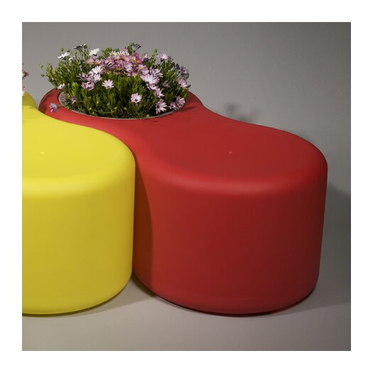 Rotoluxe Infinity Recycled Plastic Planter Bench