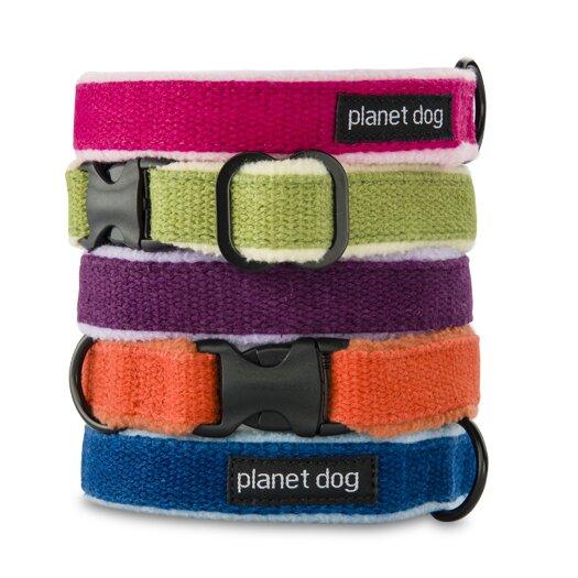 Planet Dog Cozy Hemp Adjustable Dog Collar