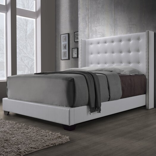 DG Casa Savoy Viceroy Upholstered Wingback Bed