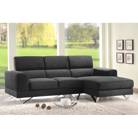DG Casa Camden Sectional Sofa with Right Facing Chaise
