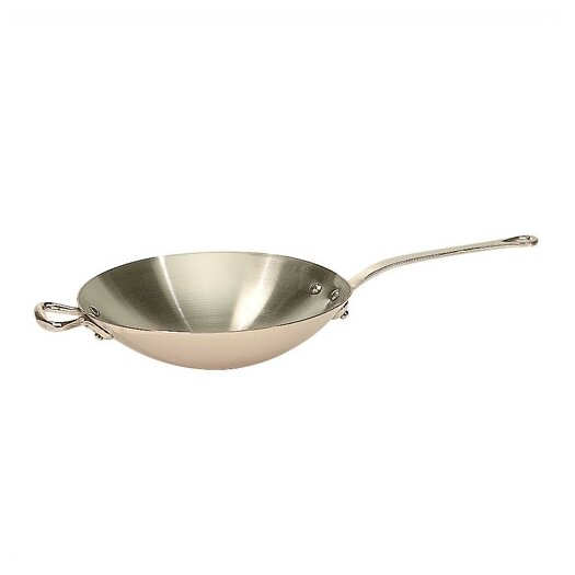 Mauviel M'heritage Cuprinox 2.1-Quart Wok With Bronze Handle