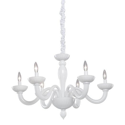Artcraft Lighting Milk Glass 6 Light Chandelier