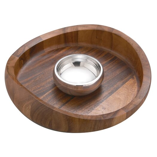 Nambe Butterfly Chip and Dip Tray