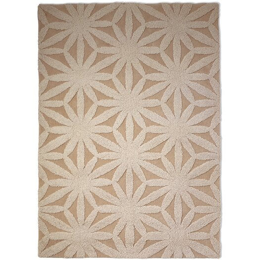 Hand Tufted Flower Ivory Floral Area Rug