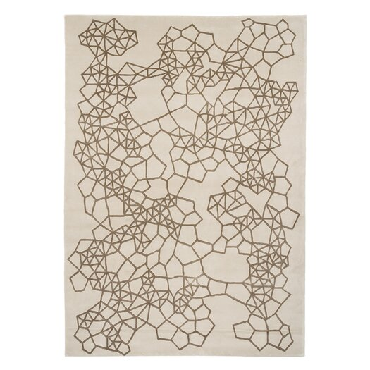 Hand Tufted Materia Brown Abstract Area Rug