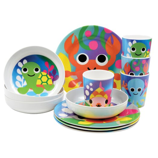 French Bull Ocean 4 Piece Kids Cup Set