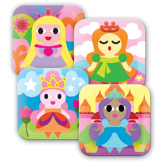 French Bull Princess Kids Plates
