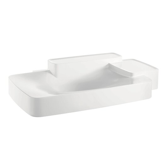 Hansgrohe Axor Bouroullec Large Wall Mounted Bathroom Sink with Two Shelves