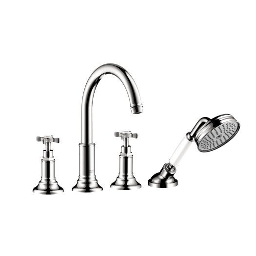 Hansgrohe Axor Montreux 4 Hole Roman Tub Trim with Cross Handle