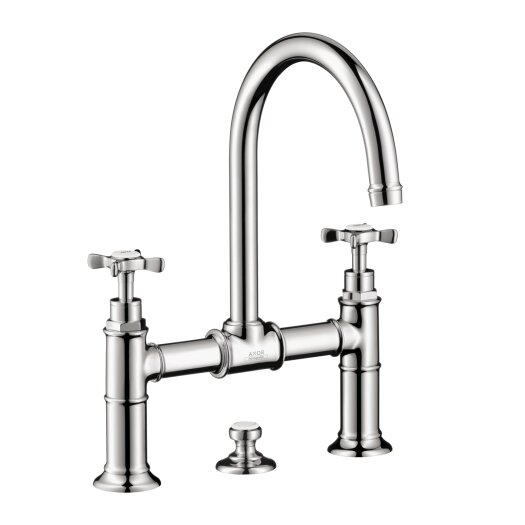 Hansgrohe Axor Montreux Widespread Model Bridge Faucet with Cross Handle