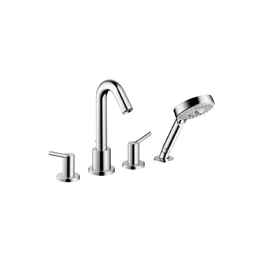 Hansgrohe Talis S Double Handle Deck Mount Roman Tub Faucet Trim Lever Handle with Multi Function Shower Head