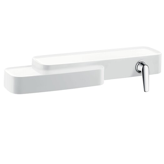 Hansgrohe Axor Bouroullec Single Handle Wall Mounted Faucet with Shelf