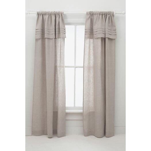 Pine Cone Hill Pleated Linen Curtain Panel