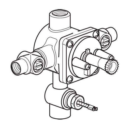 Hansa 4 Port Pressure Balance Valve