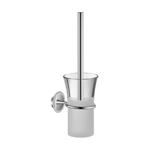 Hansa HansaMurano Toilet Brush Set with Crystal / Matte Glass in Chrome