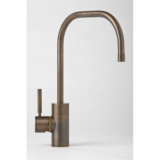 Waterstone Fulton One Handle Single Hole Kitchen Faucet with Built-In Diverter and Lever Handle