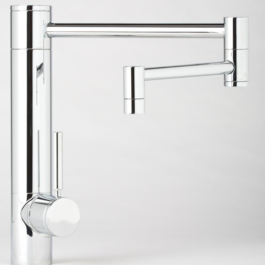 """Waterstone Hunley 18"""" One Handle Single Hole Pot Filler Kitchen Faucet with Built-In Diverter and Lever Handle"""