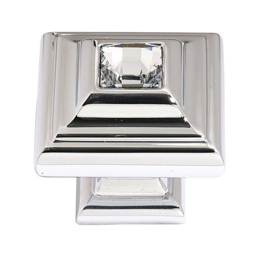 "Alno Inc Swarovski Crystal 1.25"" Square Knob II"