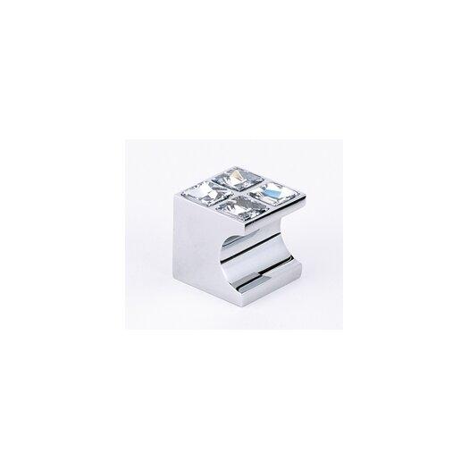 """Alno Inc Swarovski Crystal 1"""" Square Knob"""
