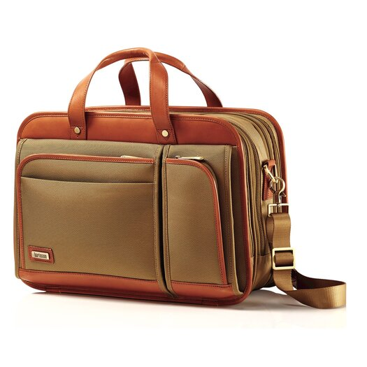 Hartmann Intensity Belting Three Compartment Briefcase