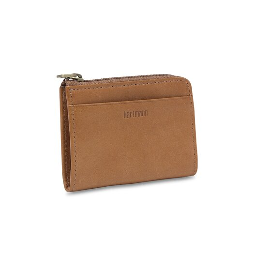 Hartmann J Hartmann Reserve Small Zip Wallet in Natural