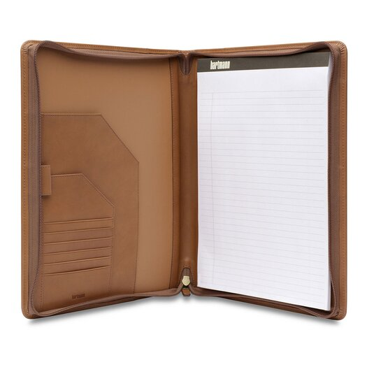 Hartmann J Hartmann Reserve Zip Executive Writing Folio in Natural