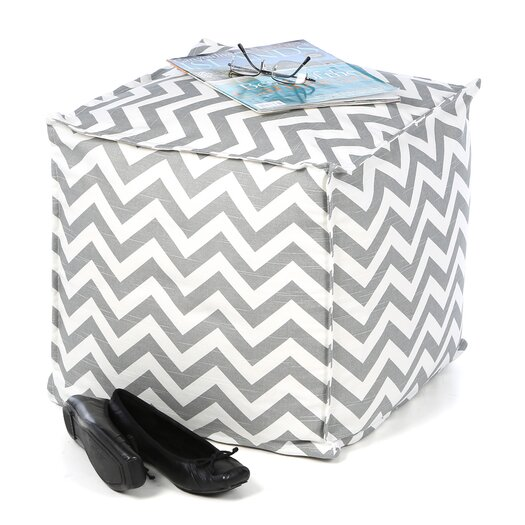 Chooty & Co Zig Zag Cube Pouf Ottoman