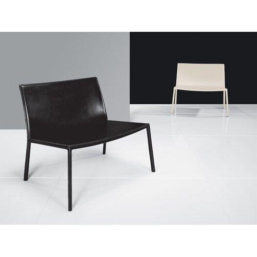 Luxo by Modloft Sanctuary Leather Arm Chair