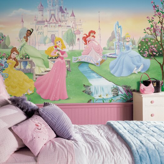 Room Mates Extra Large Murals Dancing Princess Chair Rail Wall Decal