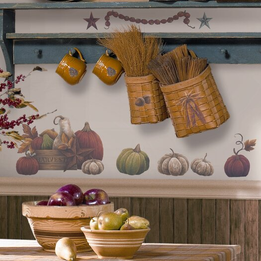 Room Mates Seasonal Bountiful 24 Piece Harvest Wall Decal Set