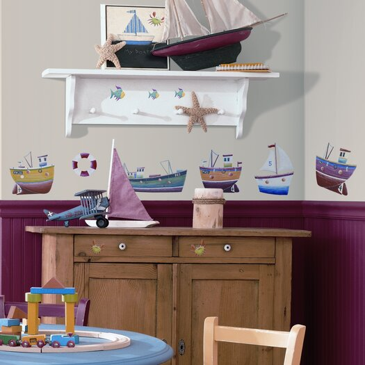 Room Mates Studio Designs 34 Piece Ship Shape Wall Decal Set