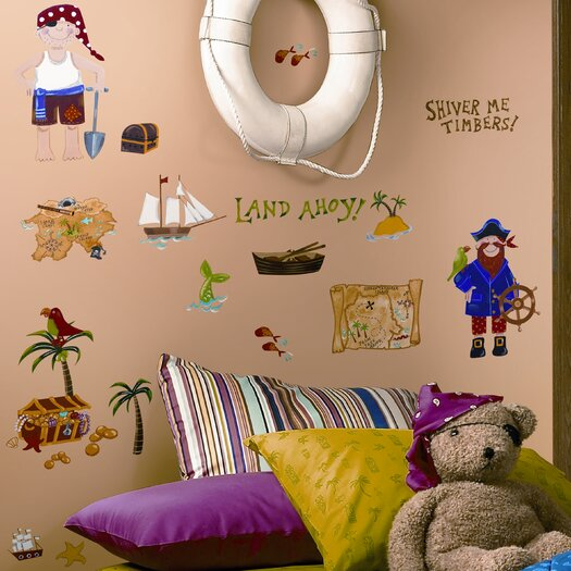 Room Mates Studio Designs 45 Piece Treasure Hunt Wall Decal Set