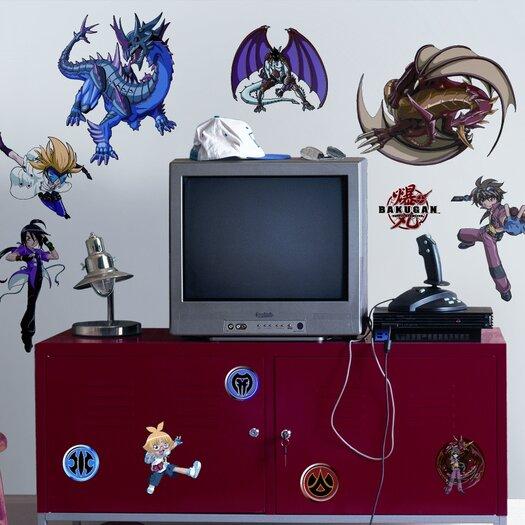 Room Mates Favorite Characters Bakugan Battle Brawlers Wall Decal Set