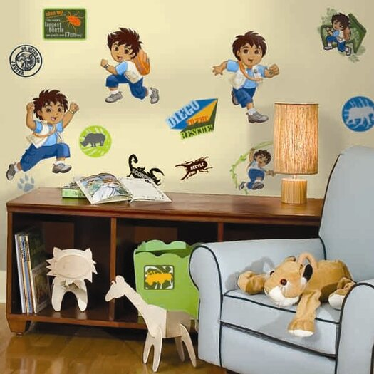 Room Mates Favorite Characters 35 Piece Nickelodeon Go Diego Go! Window Sticker Set