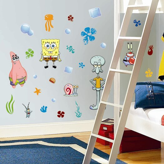 Room Mates Favorite Characters 30 Piece Nickelodeon SpongeBob SquarePants Wall Decal Set