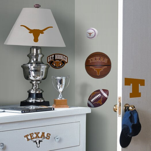 Room Mates Collegiate Sports 25 Piece Appliqué Texas Longhorns Wall Decal Set