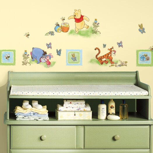 Room Mates Deco Winnie The Pooh Toddler Wall Decal Set