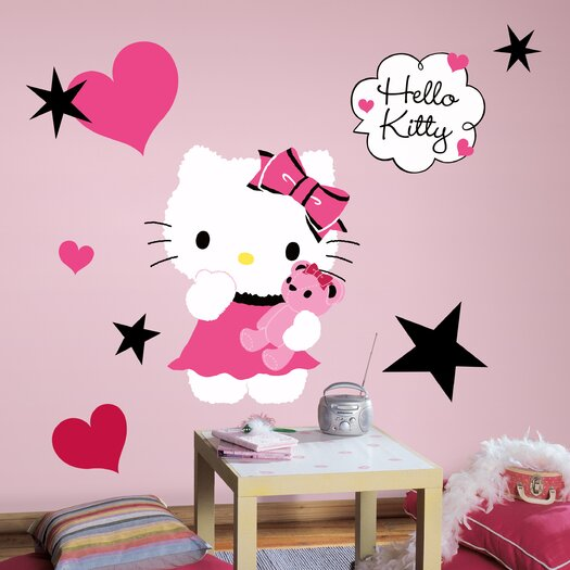 Room Mates Hello Kitty Couture Giant Wall Decal Set