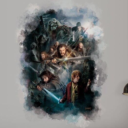 Room Mates Peel & Stick The Hobbit Cast Ensemble Wall Decal