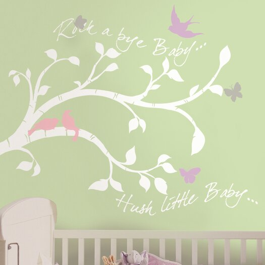 Room Mates Rockabye Bird Branch Giant Wall Decal
