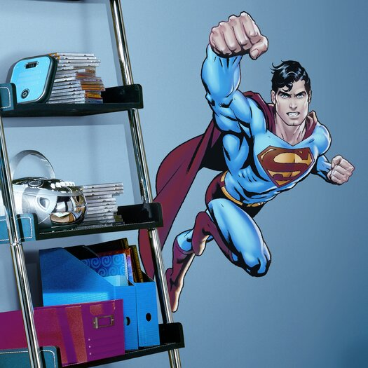 Room Mates Favorite Characters 6 Piece Superman Day Of Doom Giant Wall Decal Set