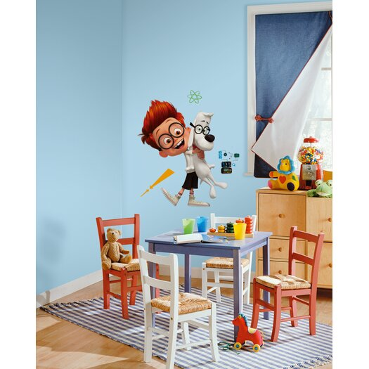 Room Mates Mr. Peabody and Sherman Giant Wall Decal