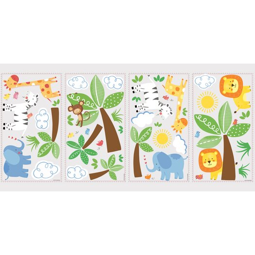 Room Mates Jungle Friends Wall Decal