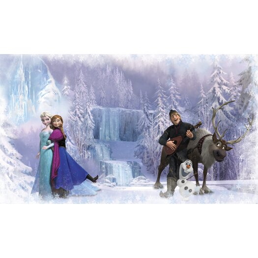 Room Mates Disney Frozen Chair Rail Prepasted Wall Mural