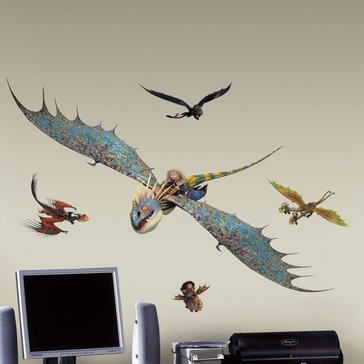 Room Mates How to Train Your Dragon 2 Astrid and Stormfly Giant Wall Decal
