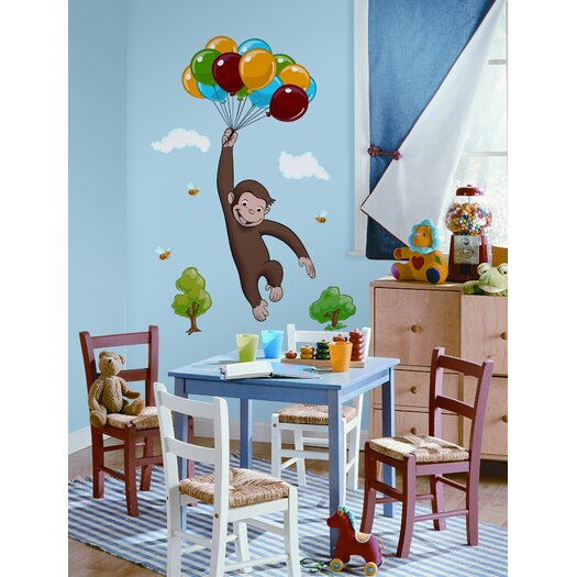 Room Mates Favorite Characters 10 Piece Curious George Giant Wall Decal Set