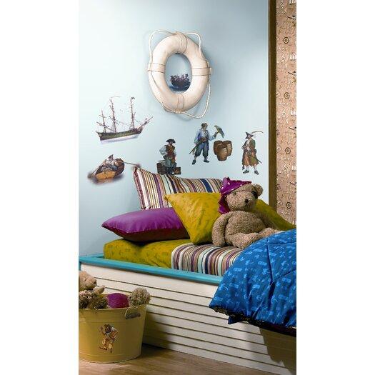 Room Mates Studio Designs 17 Piece Pirate Wall Decal Set