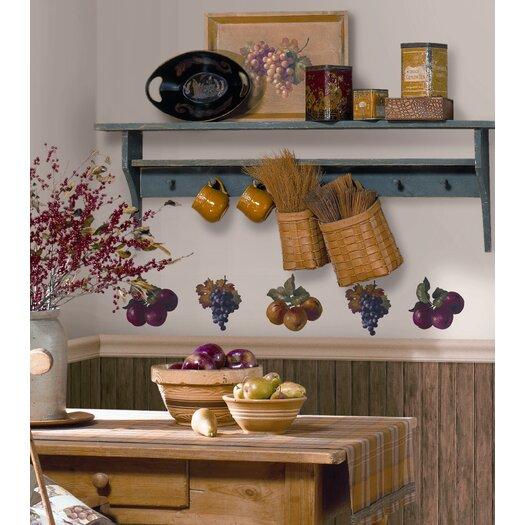 Room Mates Room Mates 26 Piece Deco Fruit Harvest Wall Decal Set